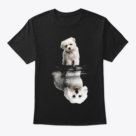 Maltese Black T-Shirt Front