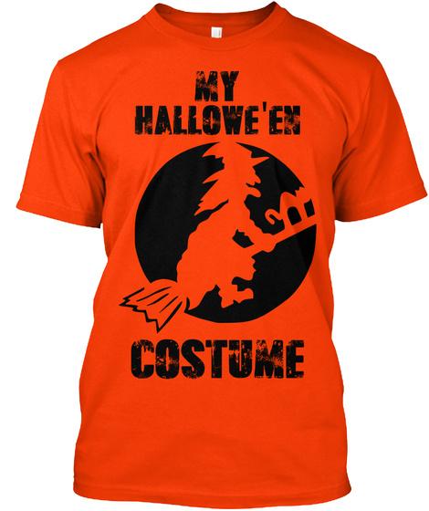 My Hallowe'en Costume Orange T-Shirt Front