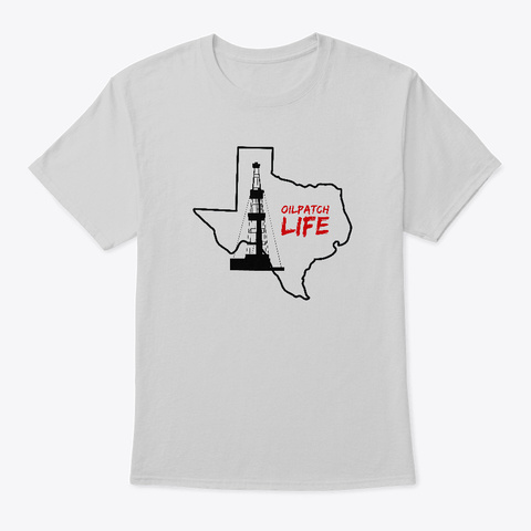 Oilpatch W/ Oil Rig Light Steel T-Shirt Front