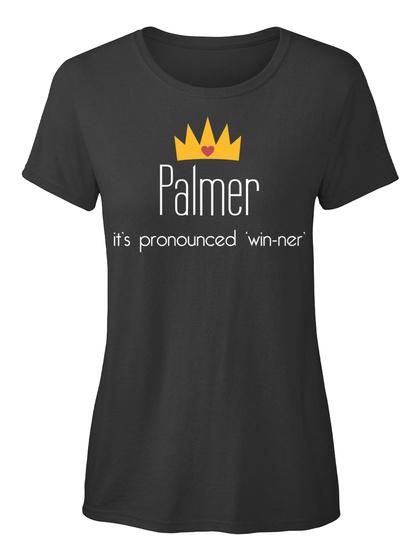 Palmer It's Pronounced 'win Ner' Black T-Shirt Front