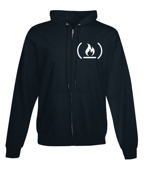 Free Code Camp Jet Black Hoodie, Eu French Navy Sweatshirt Front