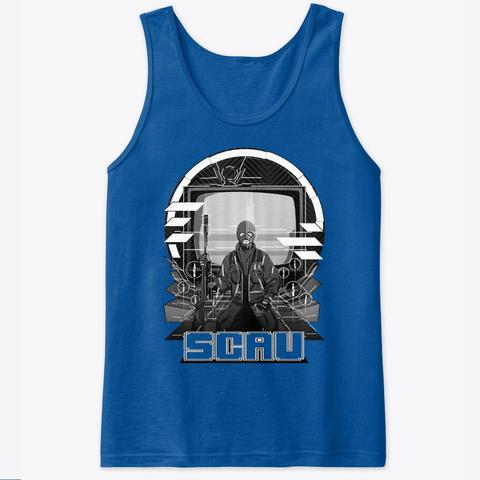 Sensei Scav's Meditation Merch Royal T-Shirt Front