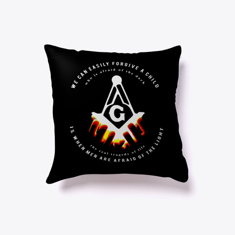 Masonic Light Throw Pillow Black T-Shirt Front