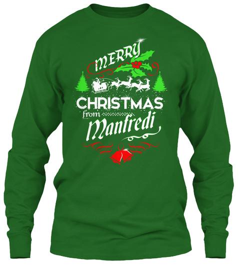 Xmas Gift From Manfredi  Irish Green Long Sleeve T-Shirt Front