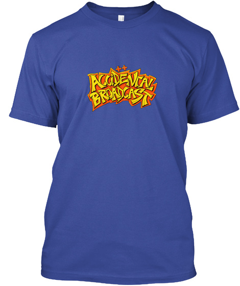 Accidental Broadcast Deep Royal T-Shirt Front