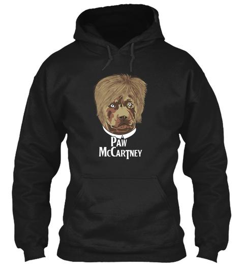 Paw Mc Cartney Black T-Shirt Front