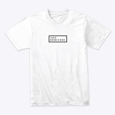 100% Herbivore   White White T-Shirt Front