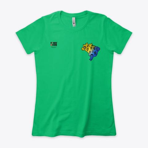 Brazil Football Kelly Green  T-Shirt Front