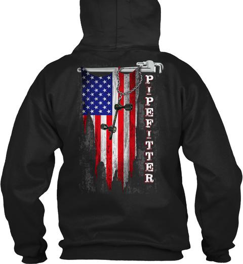 Pipefitter Black T-Shirt Back