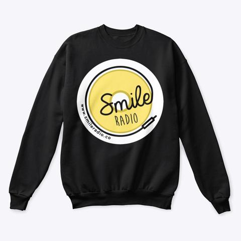 Smile Radio Merch Black T-Shirt Front