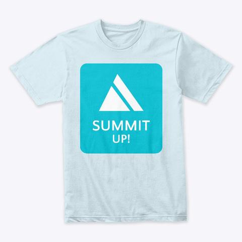 Summit Up! Light Blue T-Shirt Front