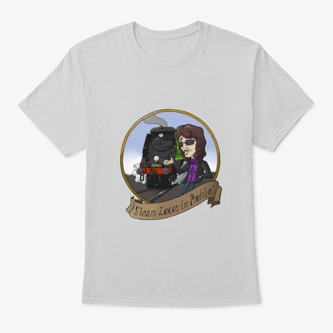 Steam Locos In Profile   Sr Bulleids Light Steel T-Shirt Front