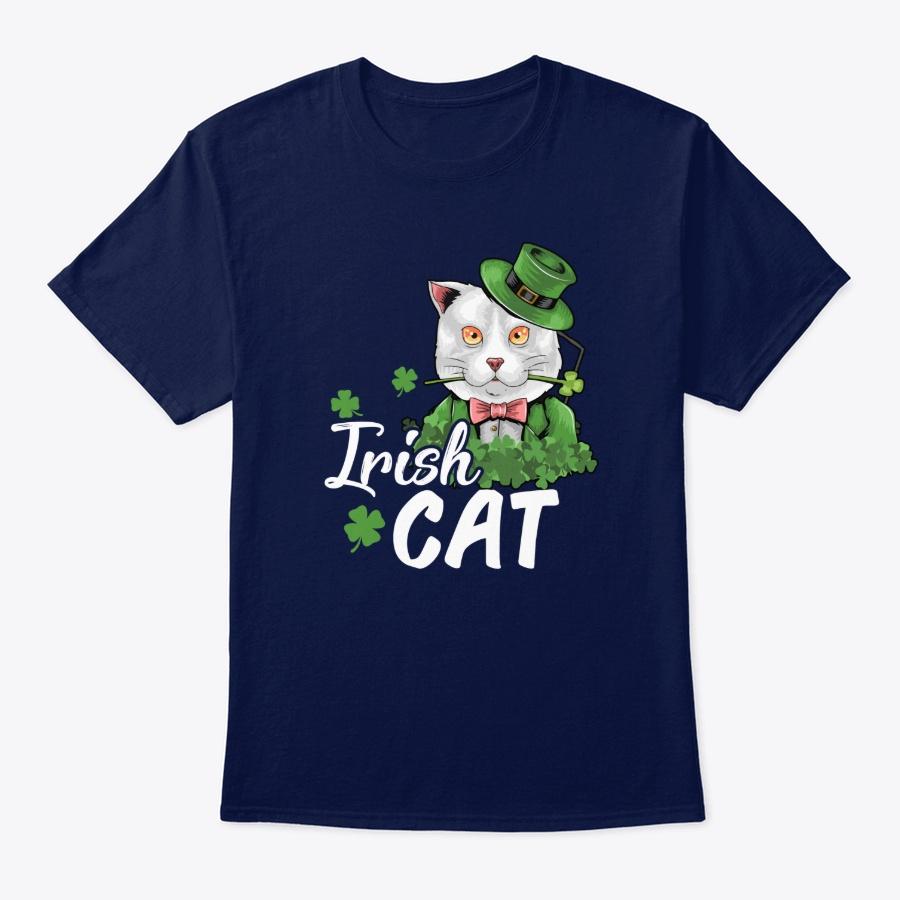 St Patricks Day – Irish Cat T-shirt – Hoodie Navy Size 3XL
