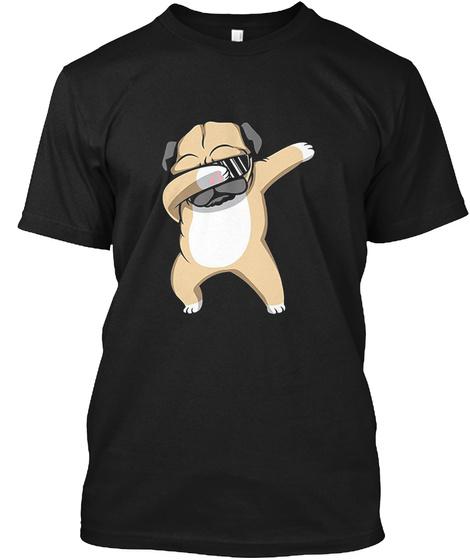 Dabbing Pug Shirt Black T-Shirt Front