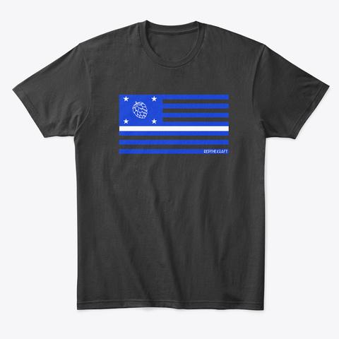 Medical Hop Flag Black T-Shirt Front