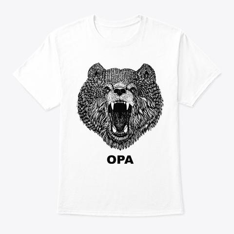 Opa Bear Shirt Animal Gift Shirt Amazing White T-Shirt Front
