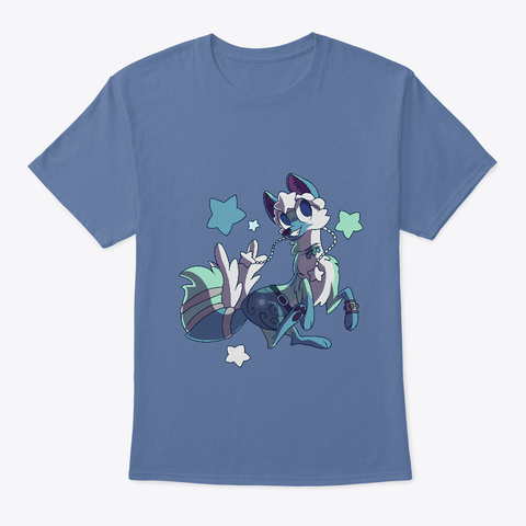 Awesomeisme   Creative Coyote Denim Blue T-Shirt Front