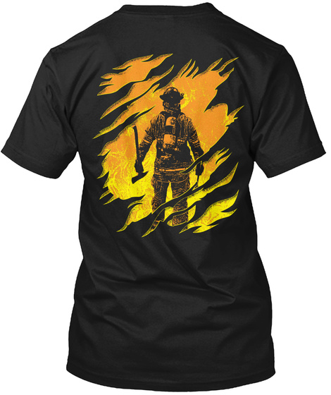 Limited Edition Firefighter Shirt Black T-Shirt Back