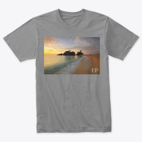 Envision Peace Beach Sunset Premium Heather T-Shirt Front