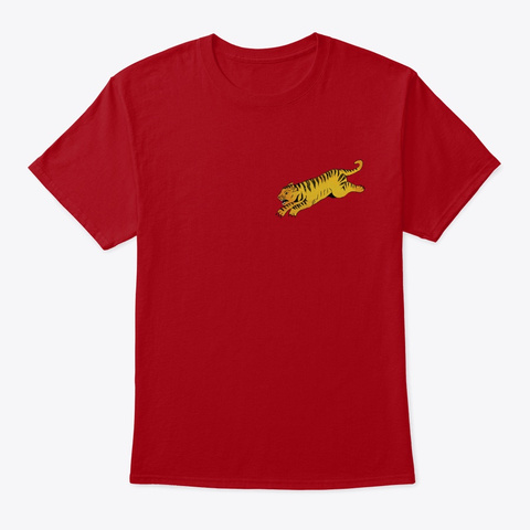 Tiger Wowsers Deep Red T-Shirt Front