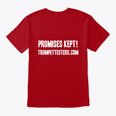 Promises Made Promises Kept Tee Deep Red T-Shirt Back