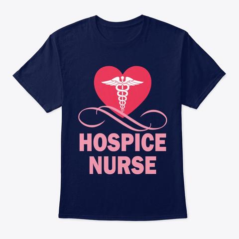 Nurse Hospice Nurse Navy T-Shirt Front