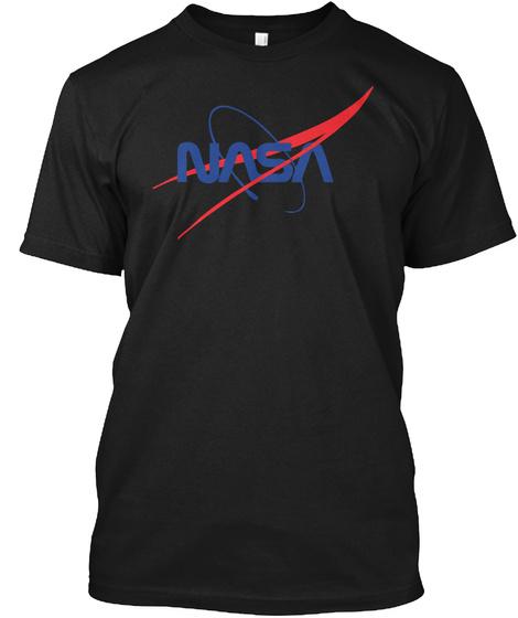 National Aeronautics Space New Shirt 18 Black T-Shirt Front