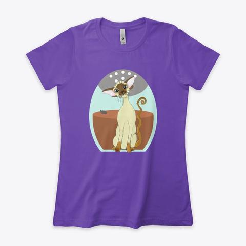 Chocolate Point Siamese Kitten Purple Rush T-Shirt Front