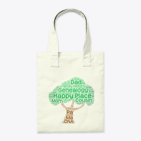 Happy Place Tote Bag Natural T-Shirt Back