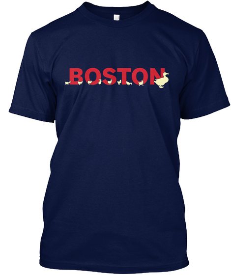 Boston  Navy T-Shirt Front