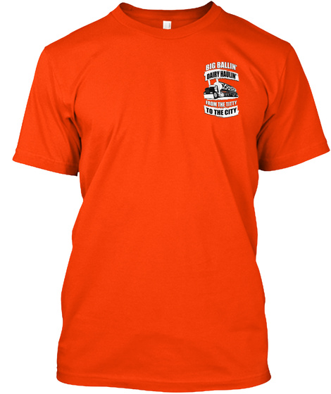 Big Ballin To The City Orange T-Shirt Front