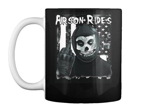 Arson Rides Coffee Black T-Shirt Front