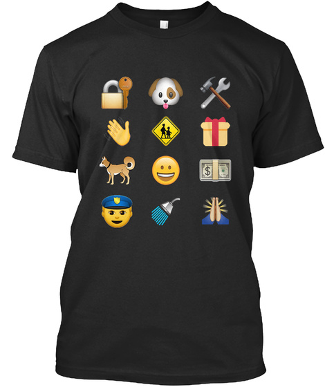 Scout Law Emoji Style Black T-Shirt Front