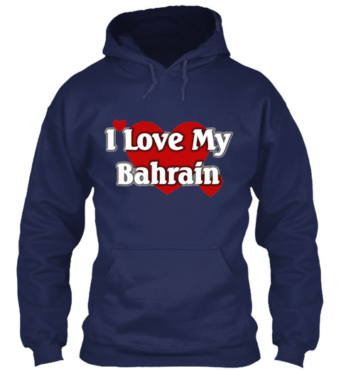 I Love My Bahrain Navy T-Shirt Front