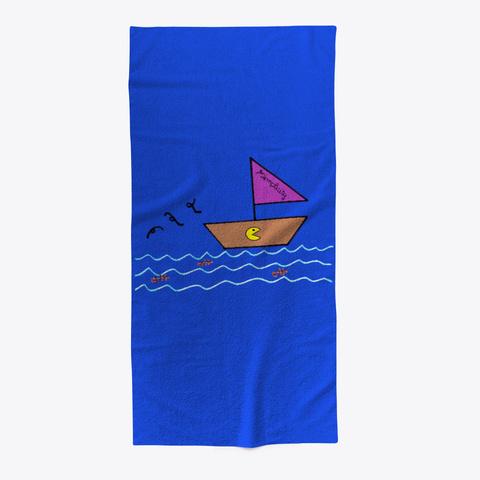 Serviette De Plage Simplicity Royal Blue T-Shirt Front