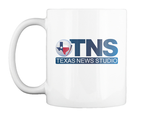 Tns Texas News Studio White T-Shirt Front