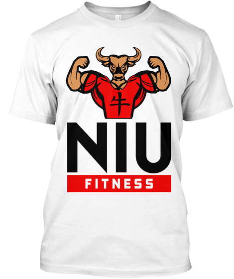 Niu Fitness White T-Shirt Front