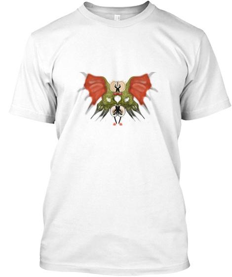 Bird Of Prey.  White T-Shirt Front