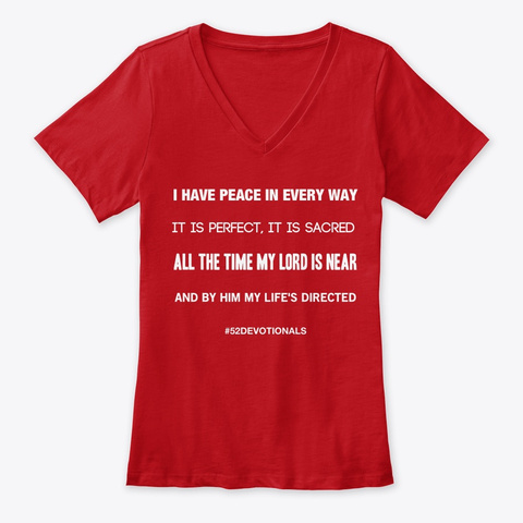 I Have Peace #52Devotionals Christian Shirts by Anna Szabo