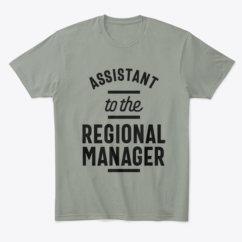 Regional Manager Work Job Title Gift Grey T-Shirt Front