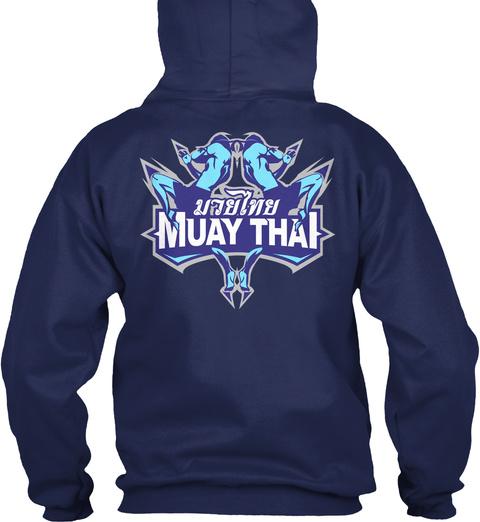 Muay Thai Navy T-Shirt Back