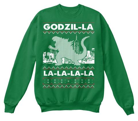 Godzilla Sweater Style Printed - godzil-la la-la-la-la Products ...