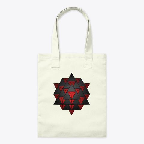 The 64 Tetrahedron Grid   Red Natural T-Shirt Front