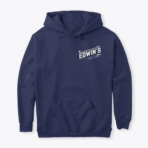 Edwin's Og Hoodie Navy T-Shirt Front