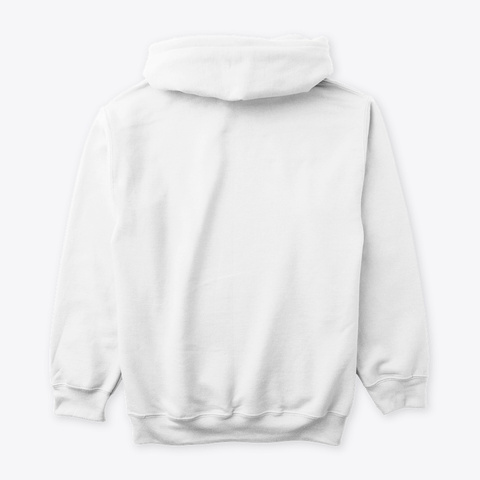 Unisex Mass Of Man Hoodie   White White T-Shirt Back