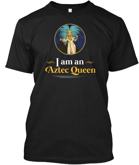 Aztec Queen Black T-Shirt Front