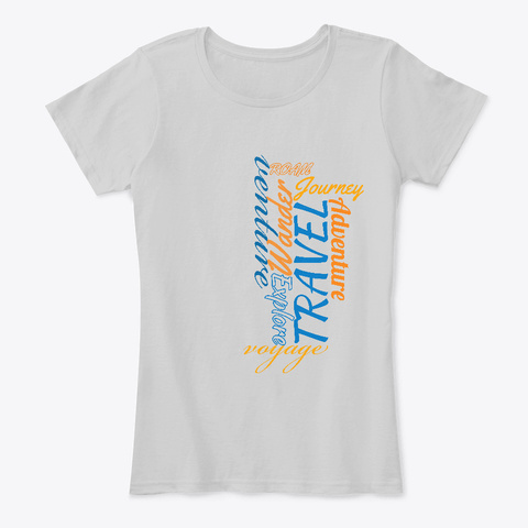 Travel Art   The Travel Collection Light Heather Grey T-Shirt Front