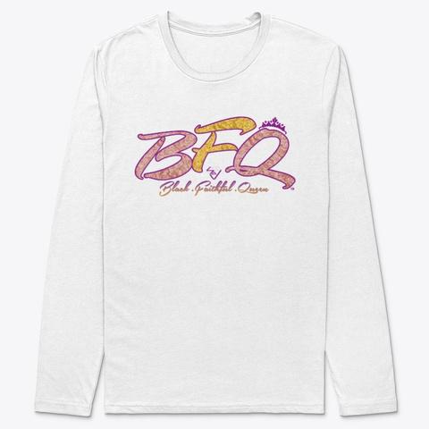 Get Black Faithful Queen White T-Shirt Front