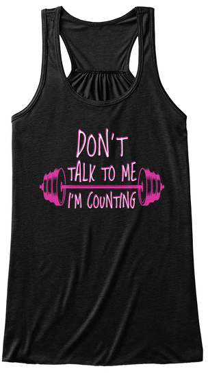 Don't Talk To Me I'm Counting Black Women's Tank Top Front