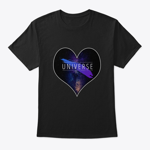 The Universe Believes In You Black T-Shirt Front